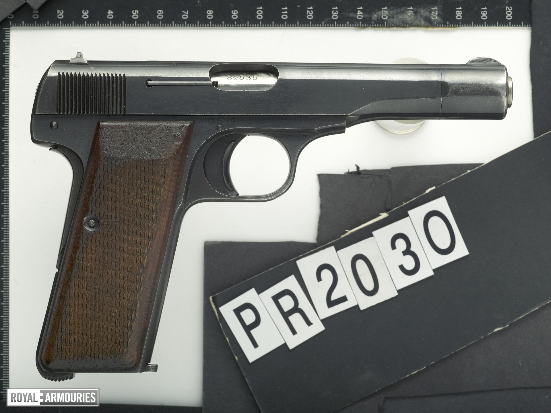 Centrefire self-loading pistol - FN Browning Model 1922