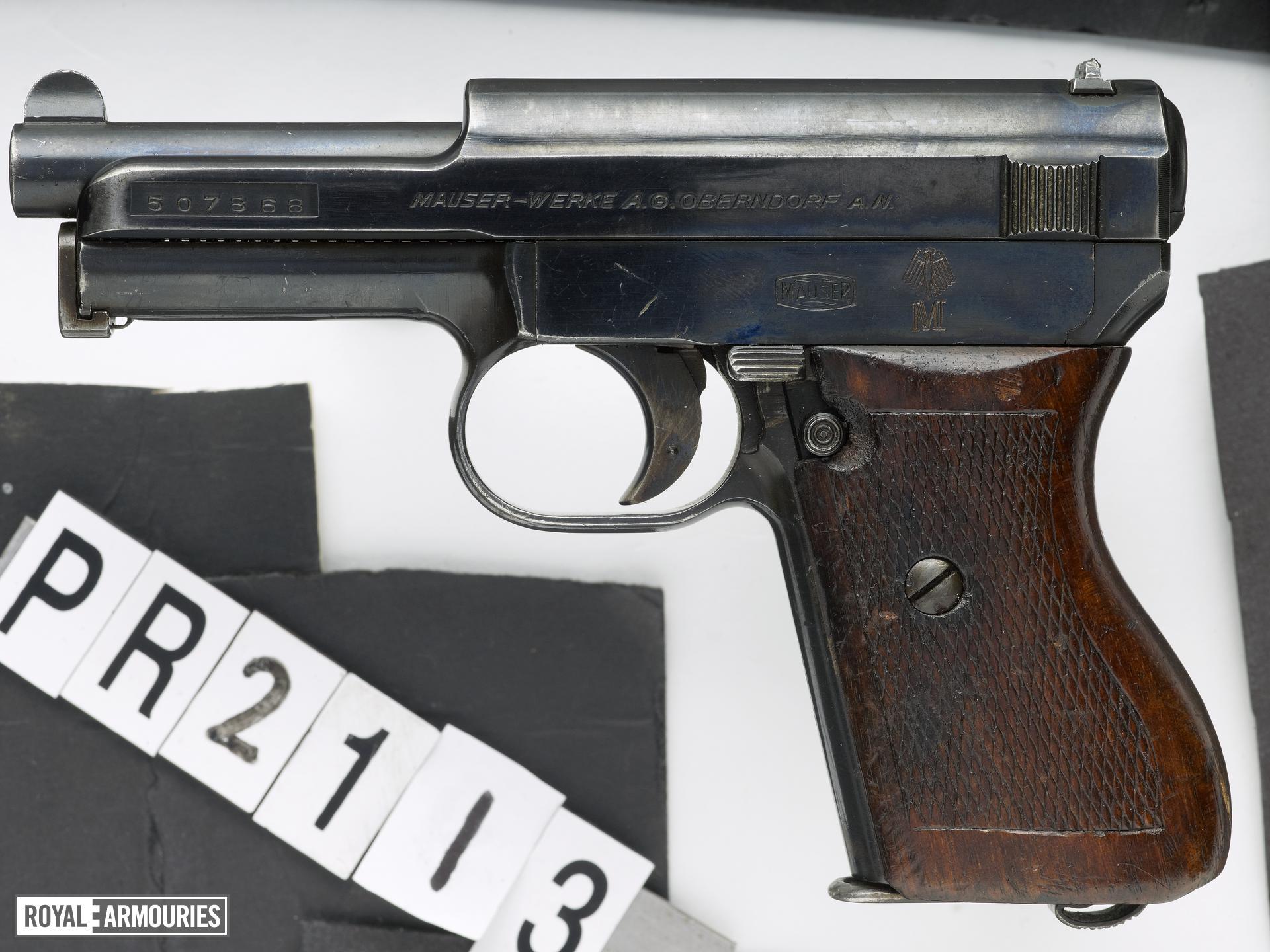 Centrefire self-loading pistol - Mauser 1934