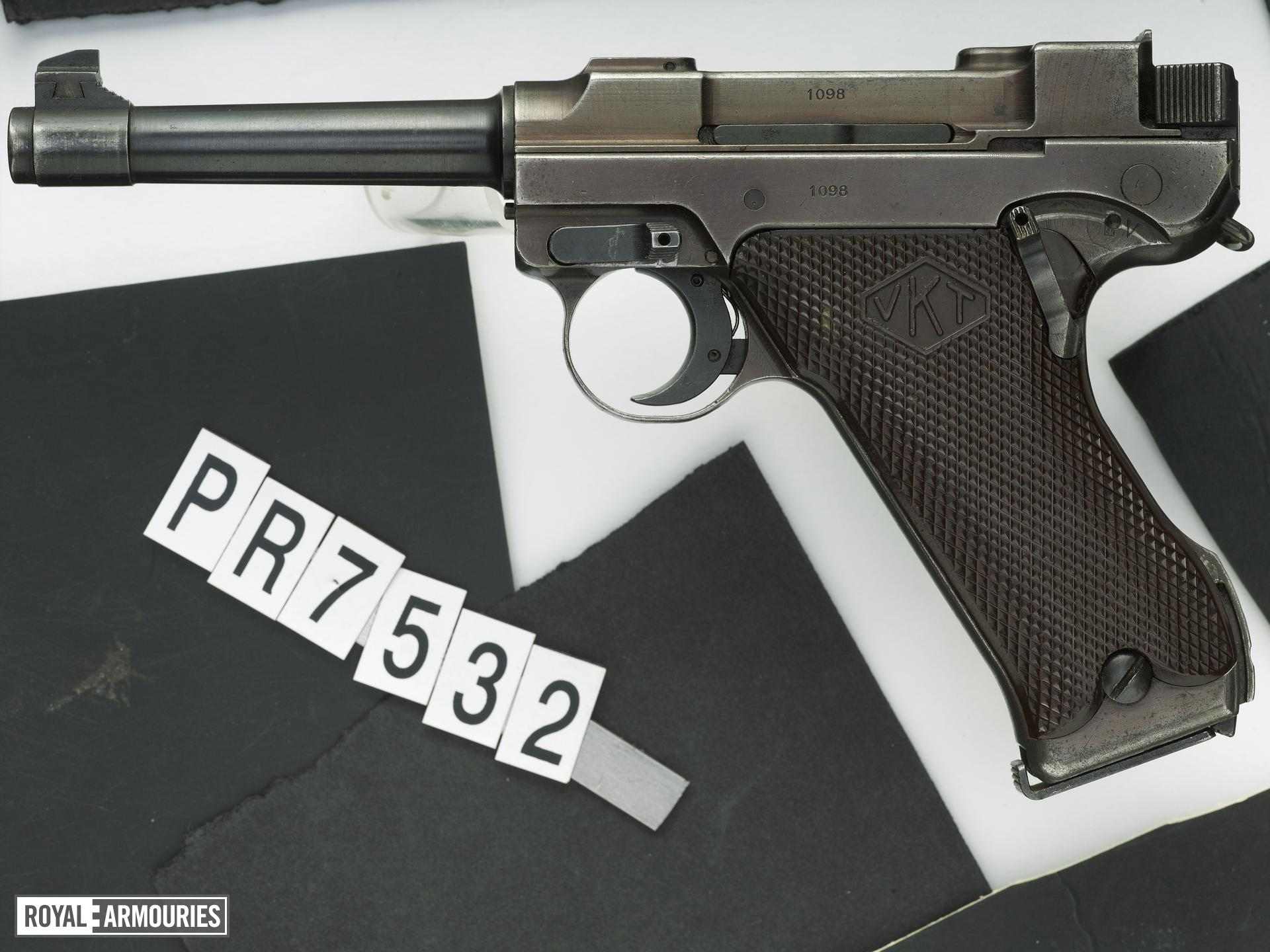 Centrefire self-loading pistol - Lahti L-35, 1st Model Experimental version, one of 99 made in 1938.