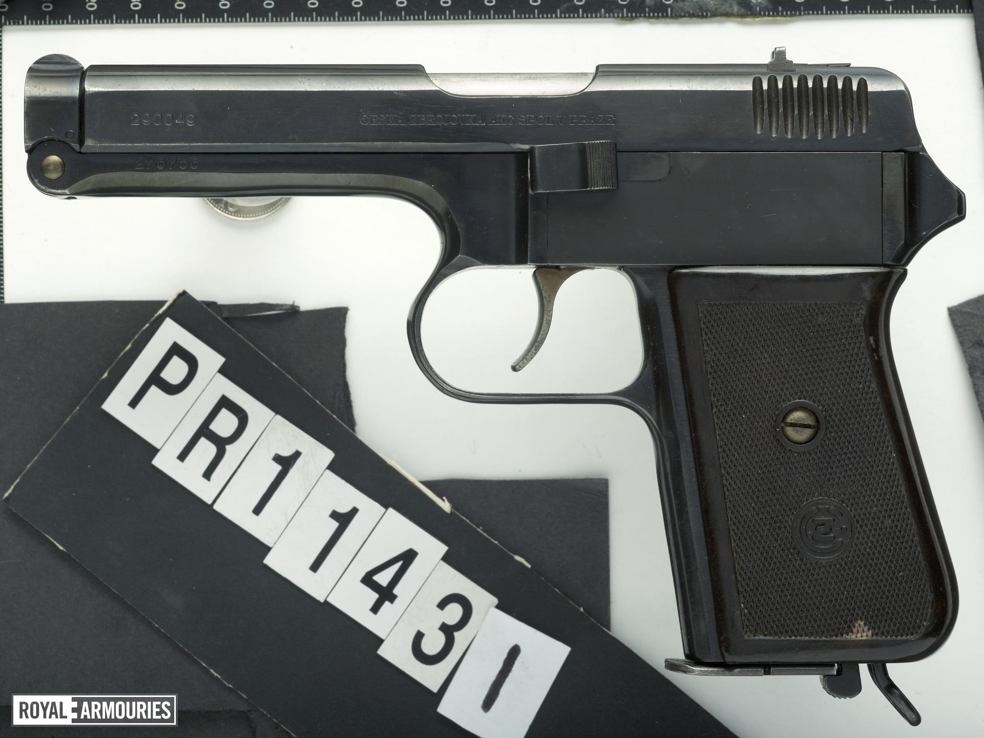 Centrefire self-loading pistol - CZ VZ38