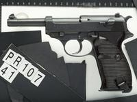 Thumbnail image of Centrefire self-loading military pistol - Walther Model P.38 Military contract Walther P.38 with the Walther code 'ac'. Only 2550 examples carry this code.