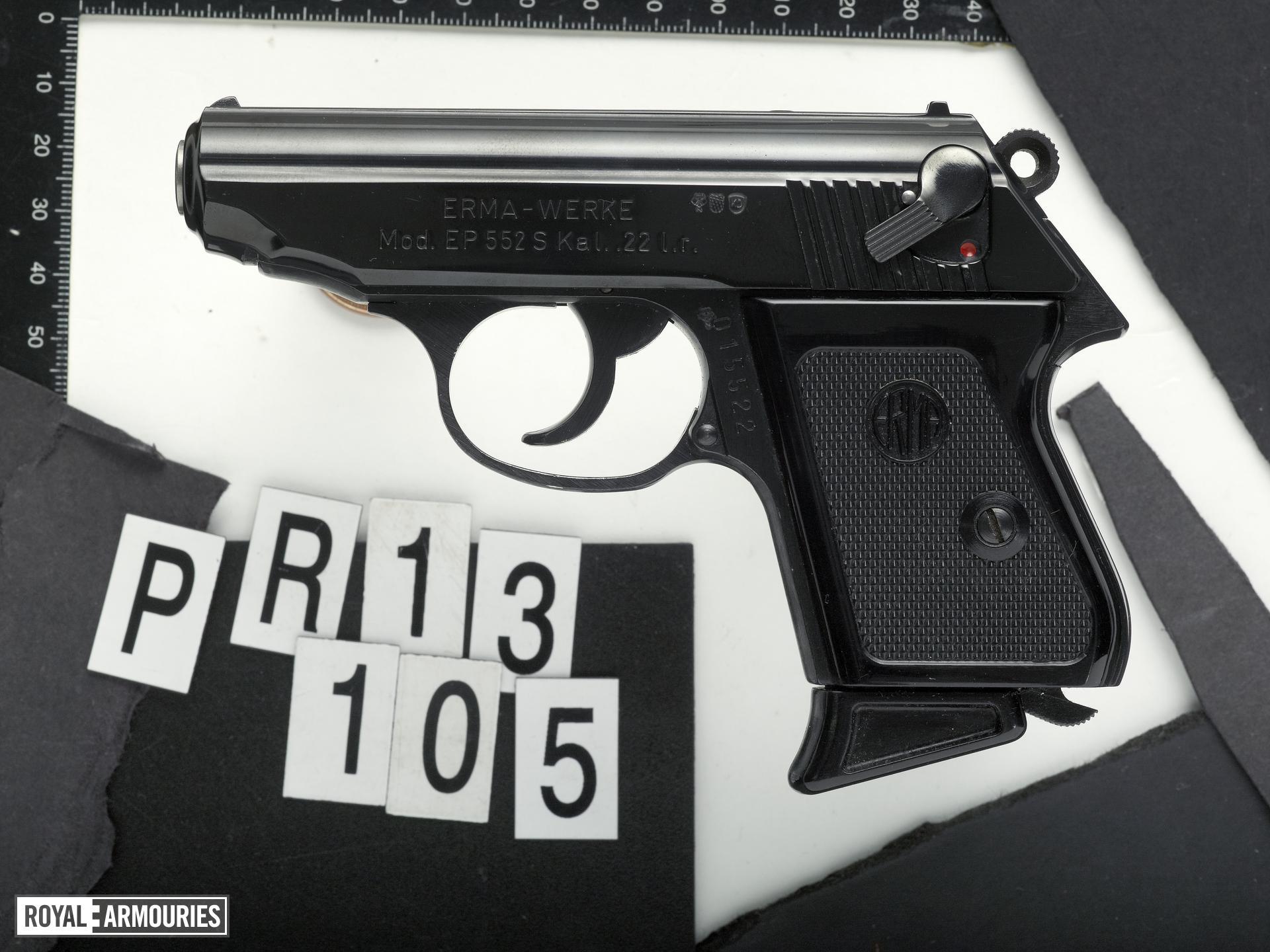 Rimfire self-loading pistol - Erma Model EP 552S