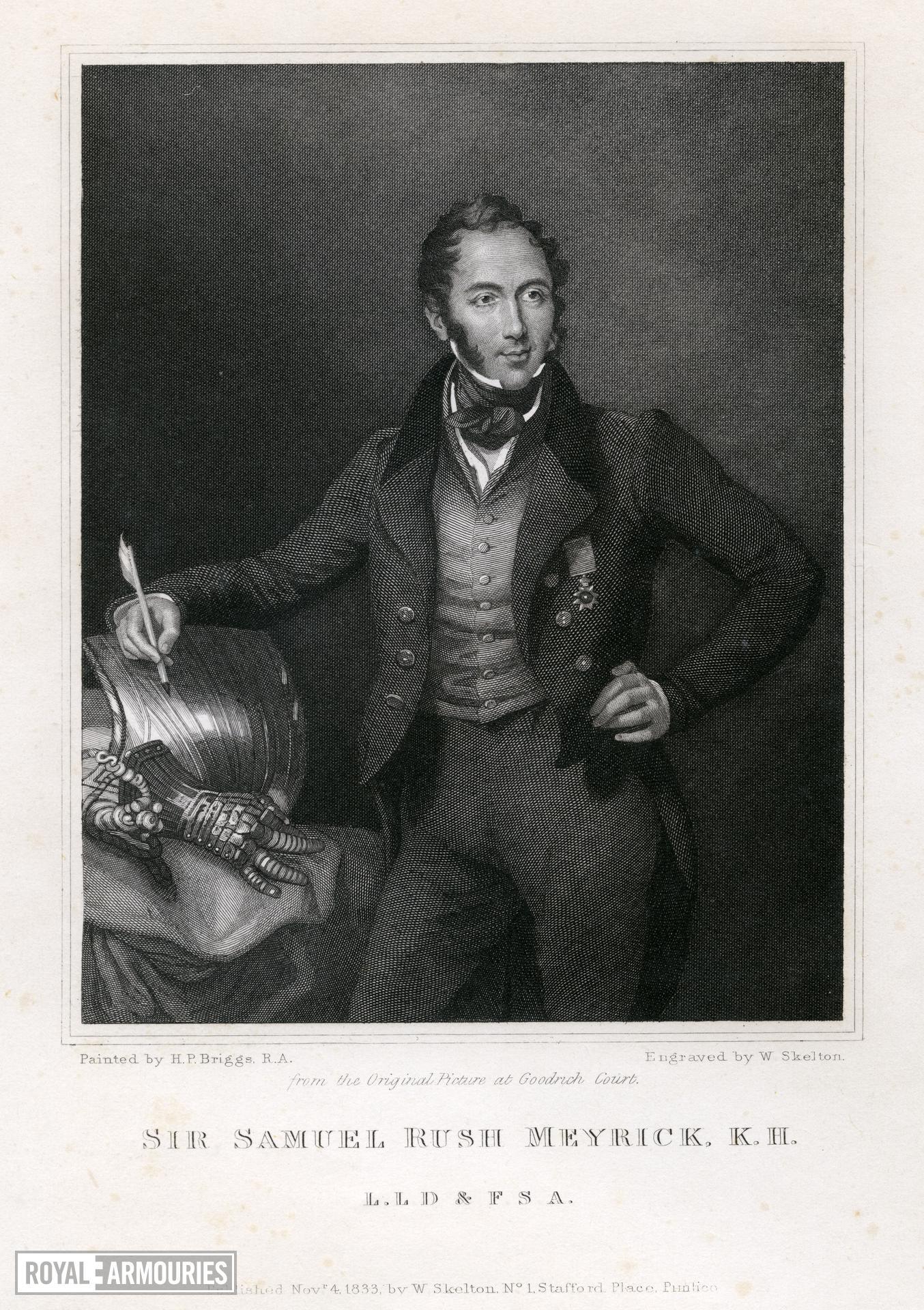 Print  Portrait Of Sir Samuel Meyrick