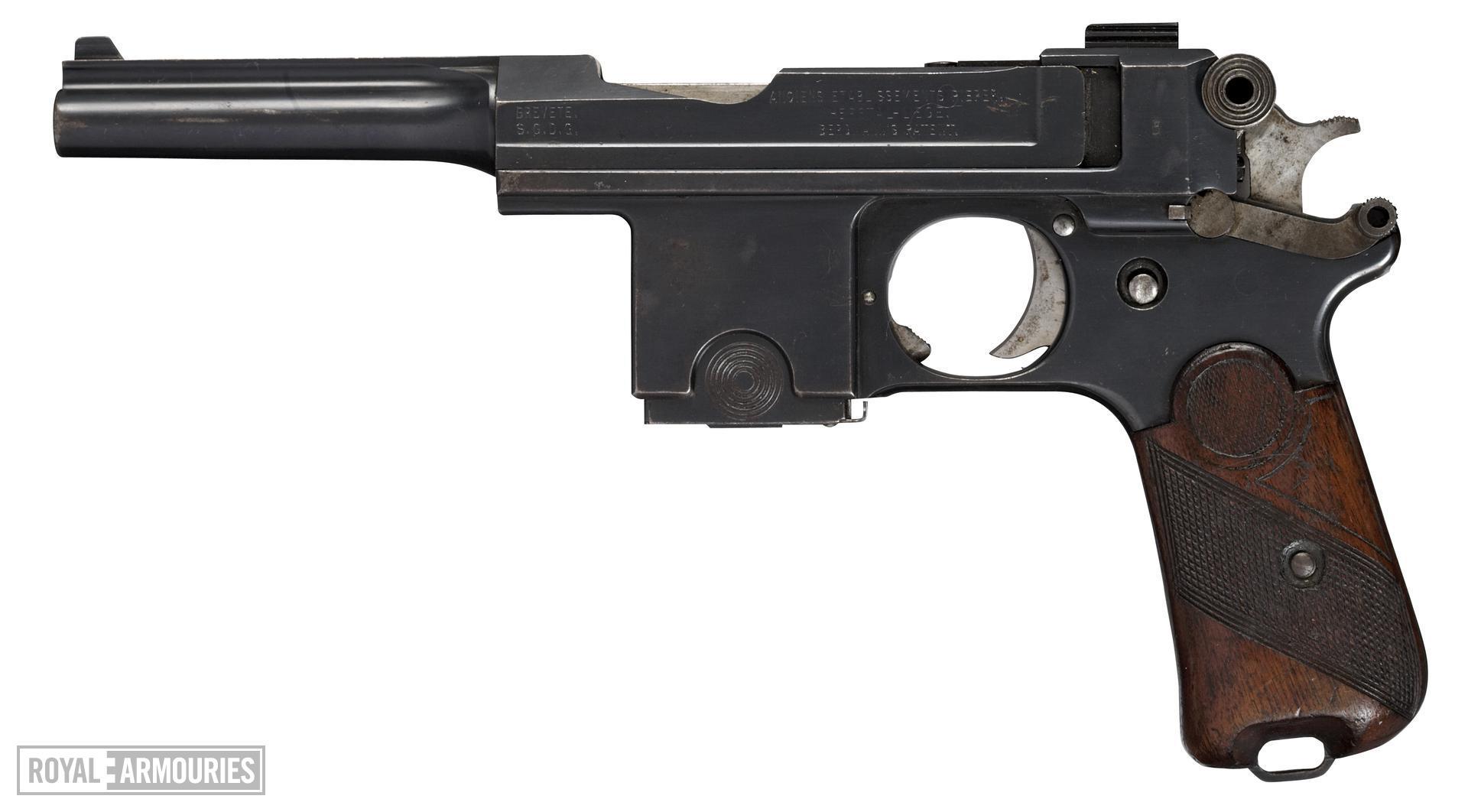 Centrefire self-loading pistol - Bergmann Bayard Model 1910 Danish military contract