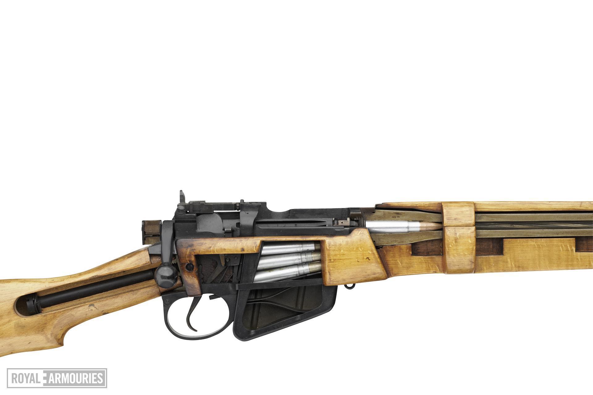 Centrefire bolt-action military skeleton rifle - Lee-Enfield No.4 Mk.I/II Skeleton