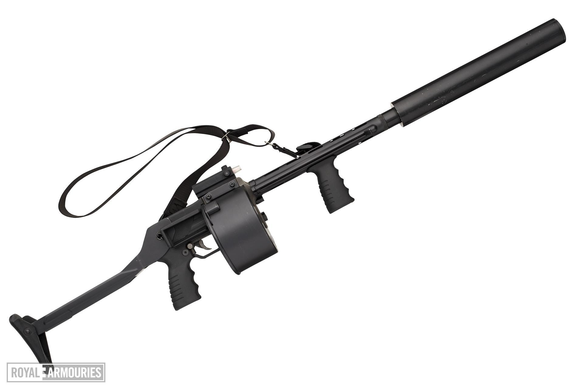 Centrefire repeating shotgun - Protecta With double action mechanism and rotary drum feed