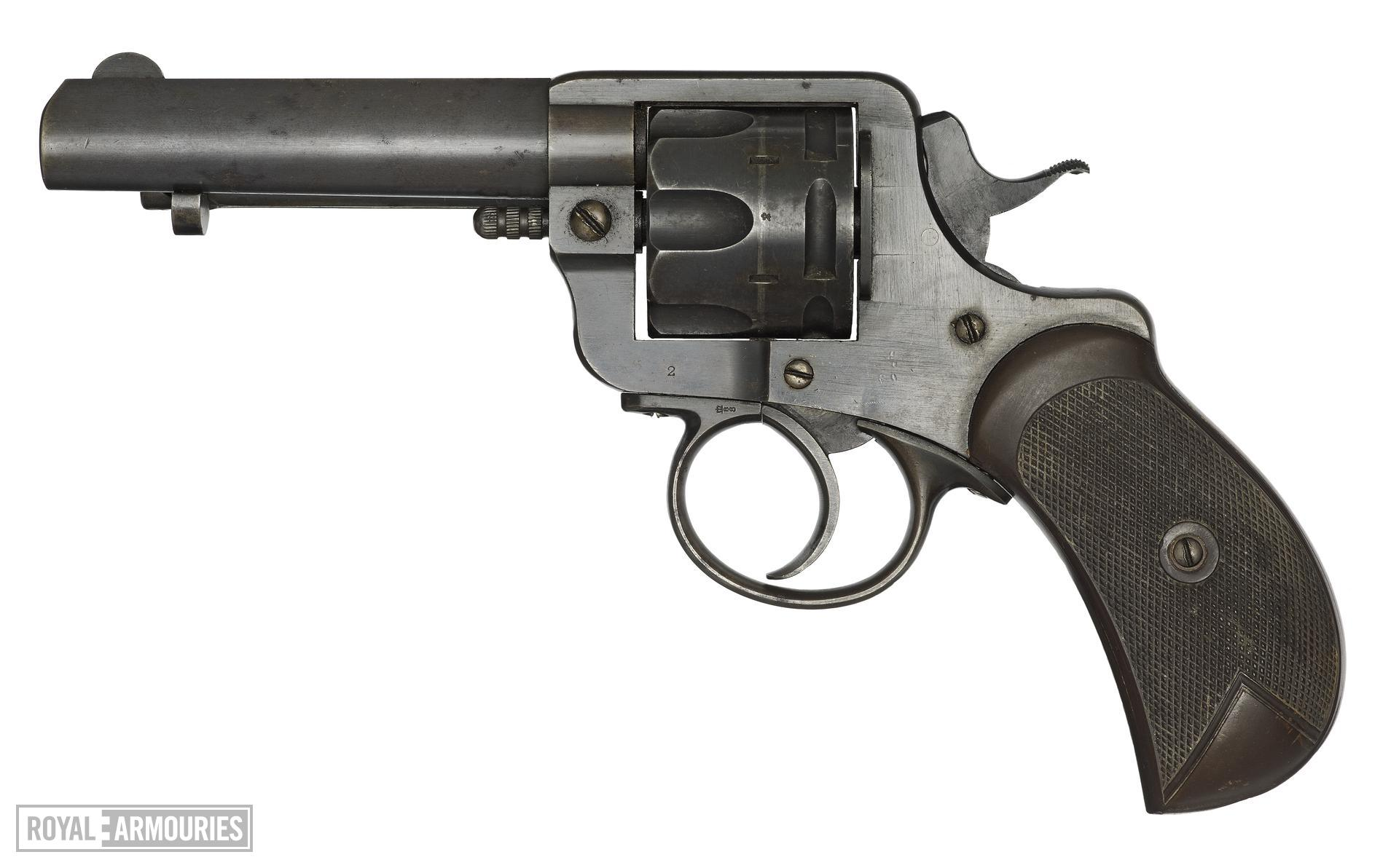 Centrefire six-shot revolver - Webley Army Express type Retailed by P Webley and son, Birmingham.