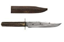 Thumbnail image of Knife and sheath Bowie knife and sheath