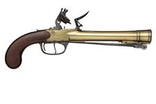 Thumbnail image of Flintlock blunderbuss pistol By Waters & Co