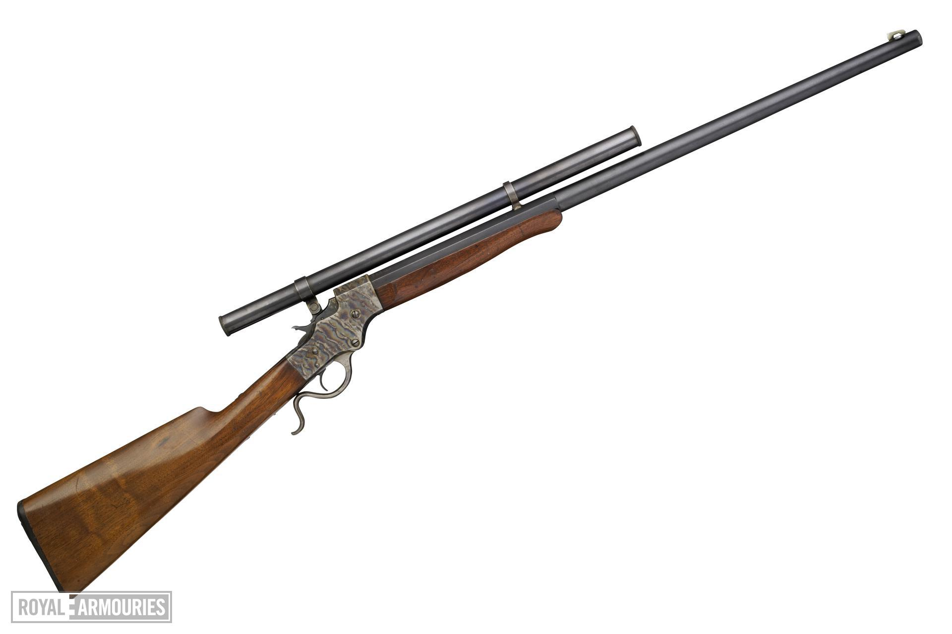 Rimfire breech-loading rifle - Stevens English Model 044 1/2 Rifle