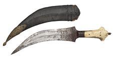 Thumbnail image of Dagger (khanjar) with a three lobed pommel.
