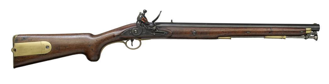 Flintlock muzzle-loading military carbine