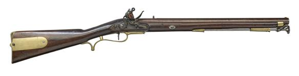 Thumbnail image of Pattern 1803 Baker flintlock military rifle carbine. Prince of Wales' pattern. Possibly for the 10th Light Dragoons, subsequently the 10th Royal Hussars. By Baker, English, about 1805