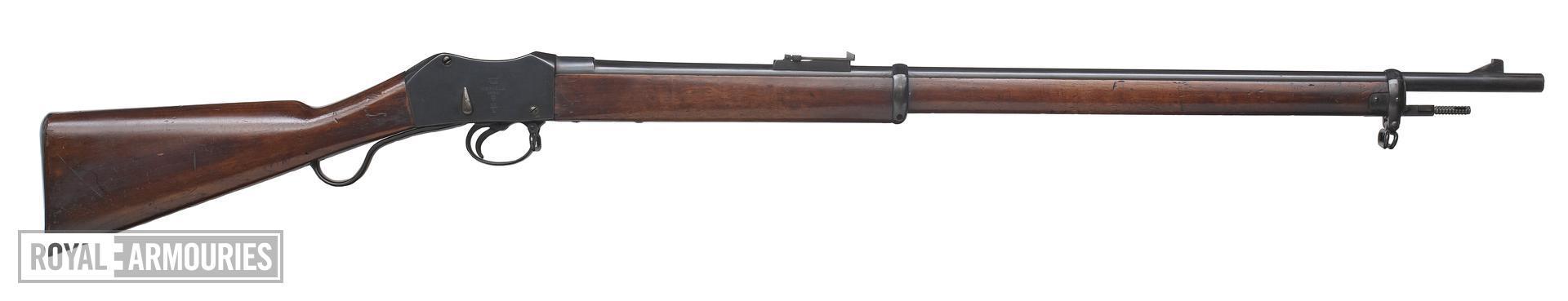 Centrefire underlever breech-loading military rifle - Martini-Metford Mk. V