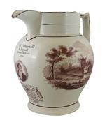 Thumbnail image of Staffordshire commemorative jug, Sir Francis Burdett. XVIII.832