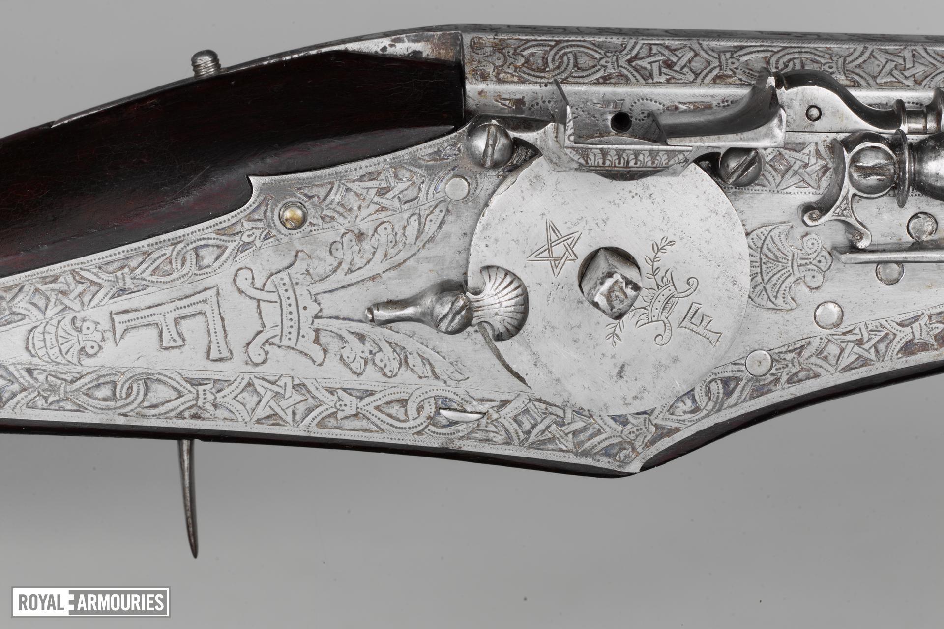 Wheellock holster pistol For Don Diego Felipe de Guzman, Marques de Leganes