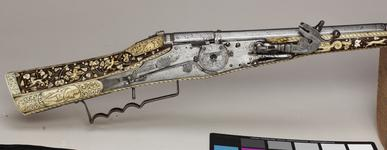 Thumbnail image of Flintlock gun - By Arnold David