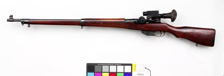 Thumbnail image of Ross Mark 3 sniper rifle with Warner and Swasey sight