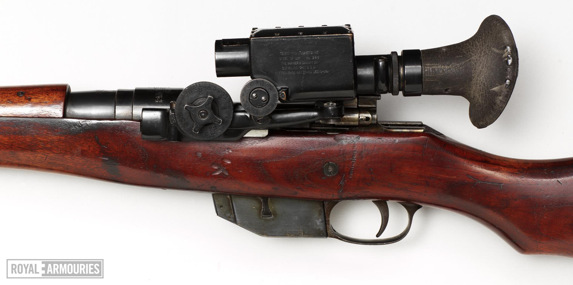 Centrefire bolt-action rifle - Ross Mark III with Warner and Swasey scope