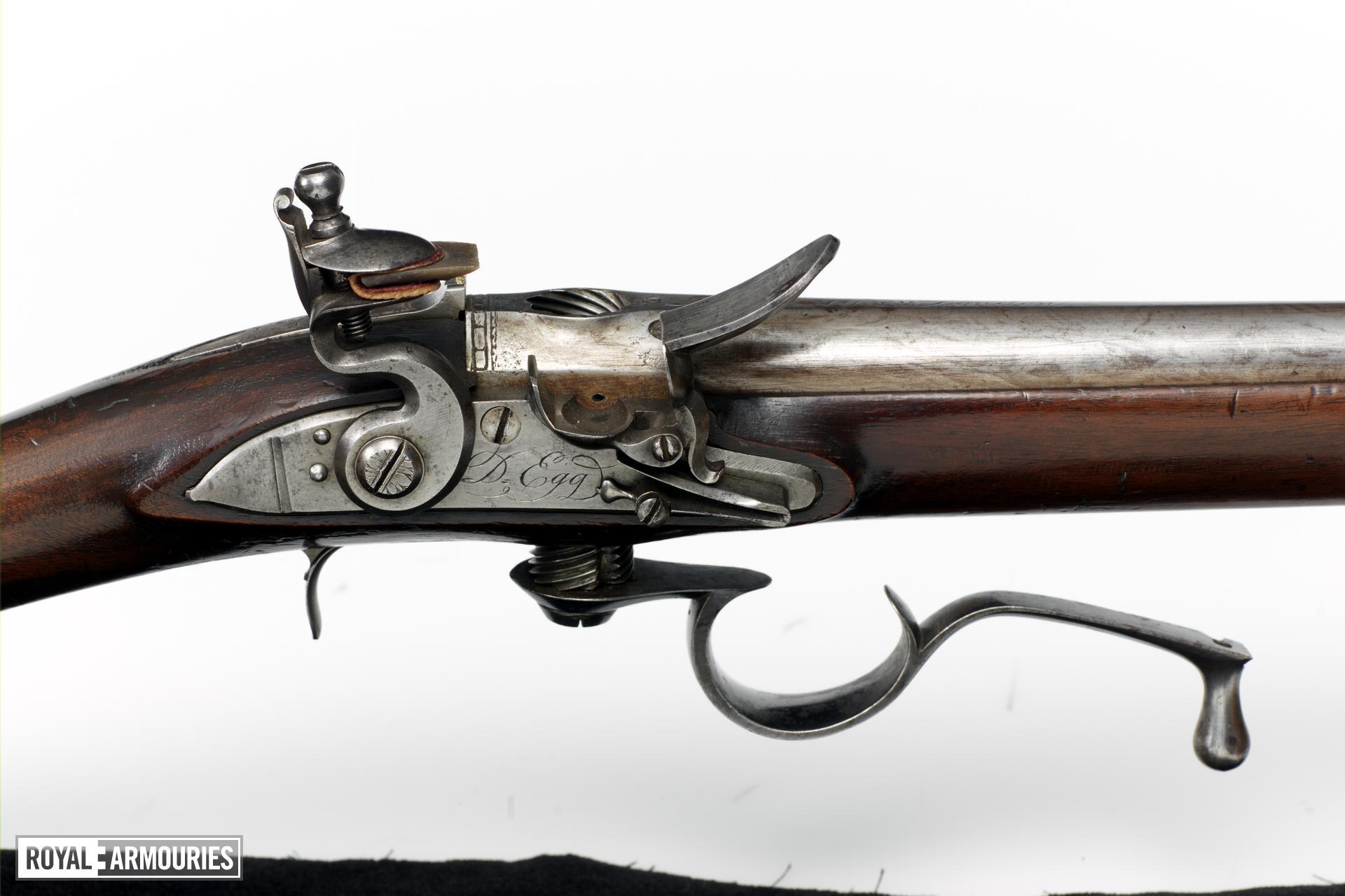 Flintlock breech-loading rifle - Ferguson type by Egg