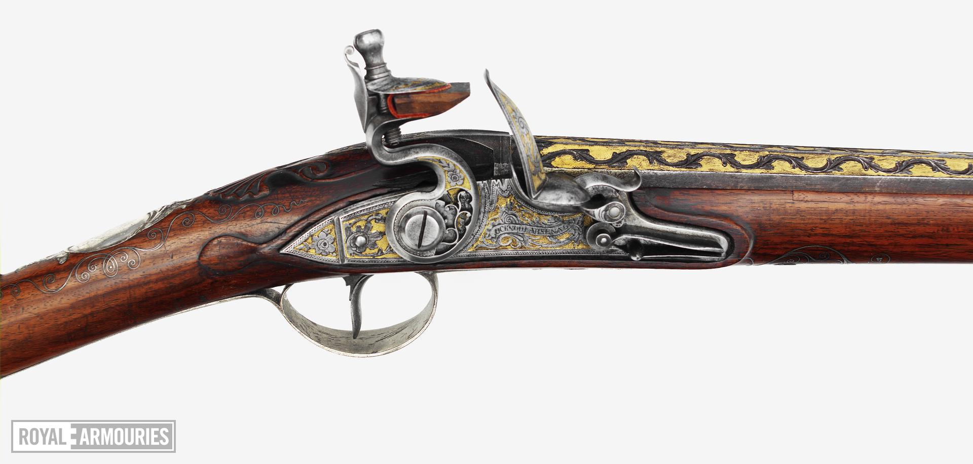 Flintlock gun - By Claude Martin Made at Lucknow Arsenal