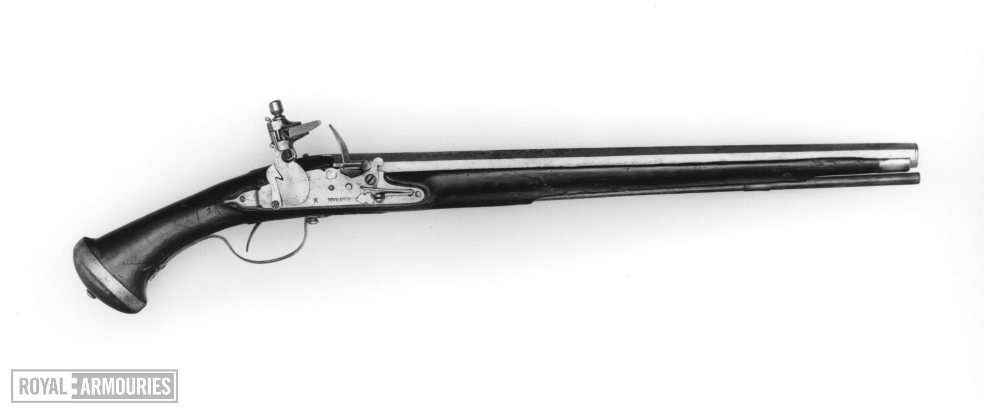 Flintlock pistol By Murden; part of the Littlecote collection