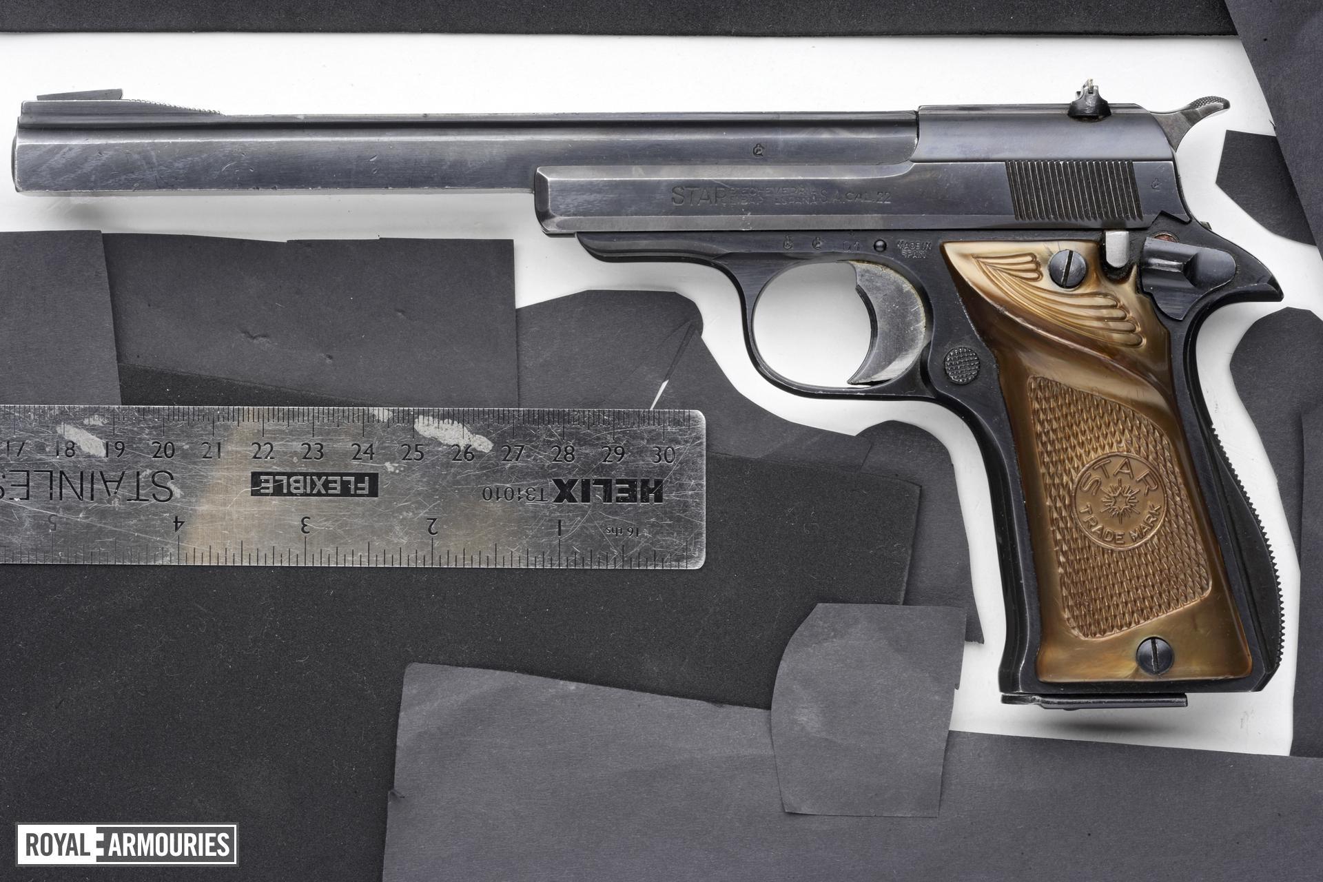 Rimfire self-loading target pistol - Star Model F