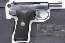 Thumbnail image of Centrefire self-loading pistol - Webley and Scott Model 1905