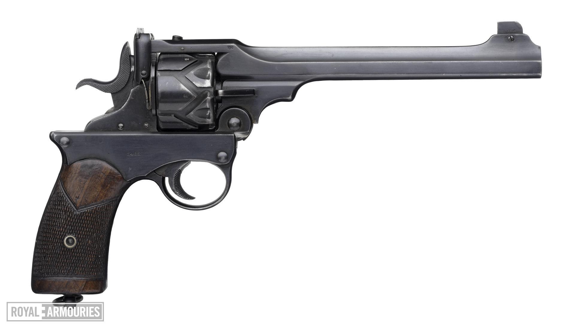 Centrefire six-shot self-cocking target revolver - Webley Fosbery Target Model Target model.