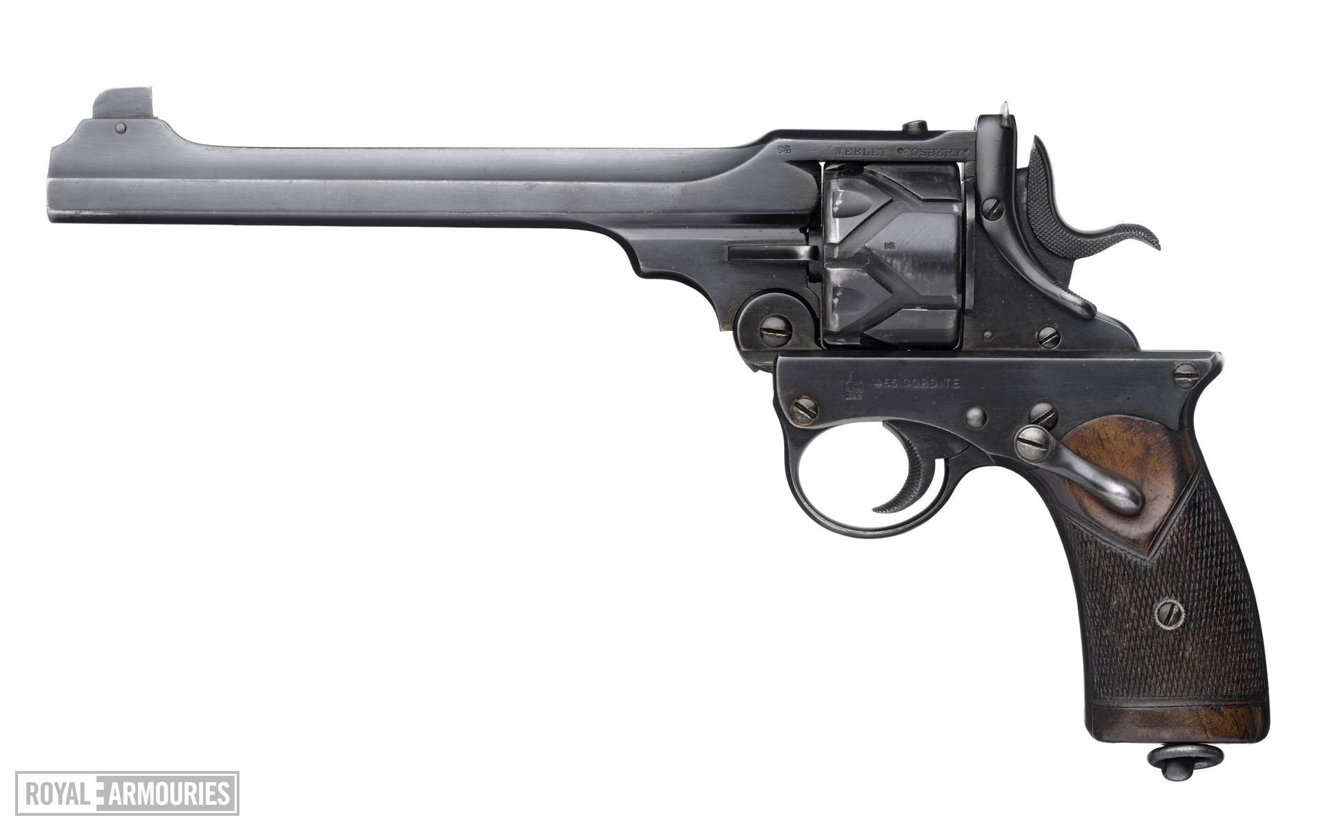 Centrefire six-shot self-cocking target revolver - Webley Fosbery Target Model