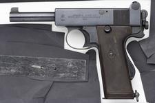 Thumbnail image of Centrefire self-loading pistol - Webley and Scott Mk.I
