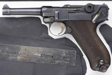Thumbnail image of Centrefire self-loading pistol - Luger Model 1908, Commercial Manufactured by Deutsche Waffen und Munitionsfabriken