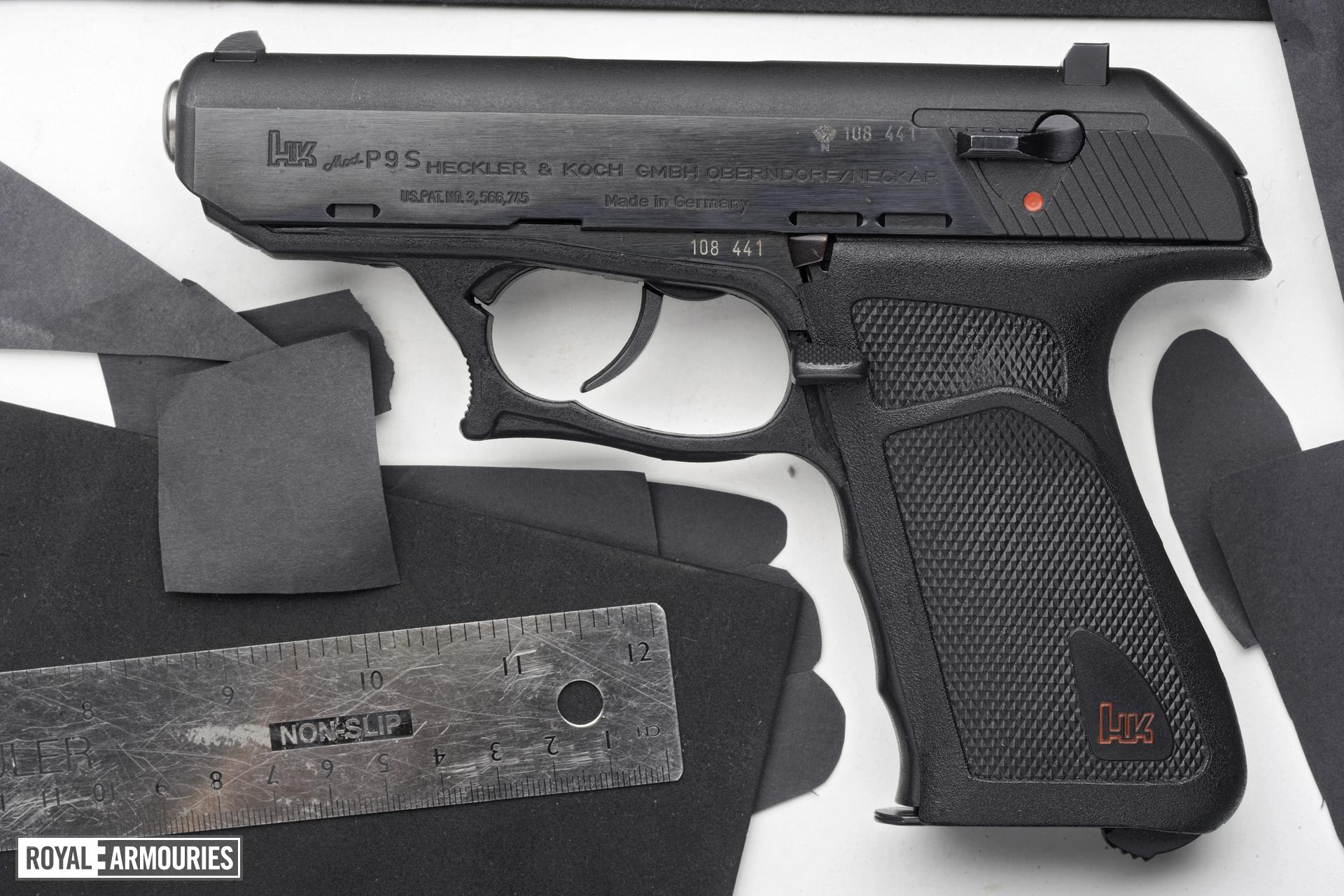 Centrefire self-loading pistol - Heckler and Koch P9S