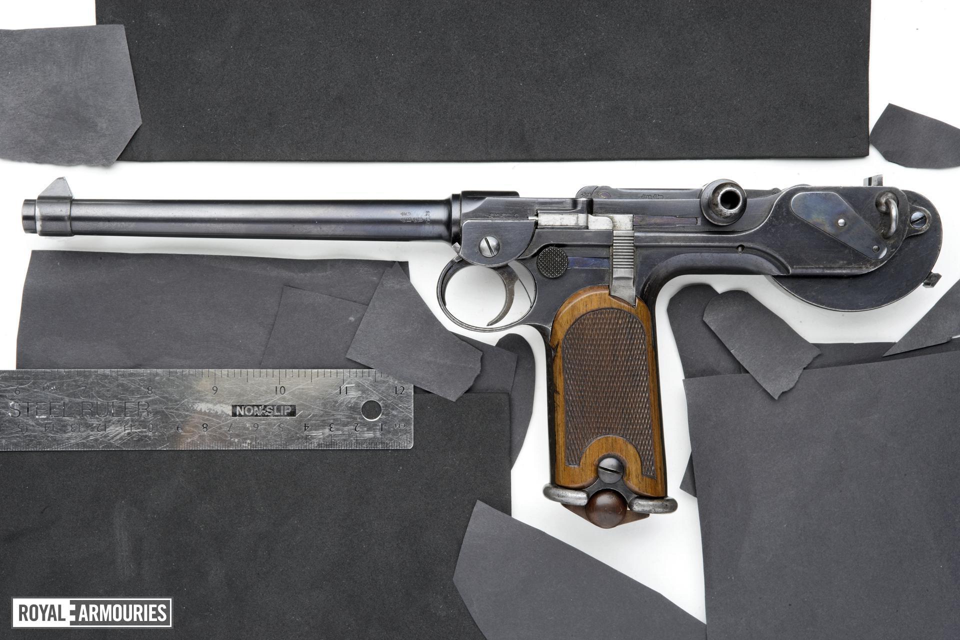 Centrefire self-loading pistol - Borchardt Model 1893 Cased