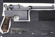 Thumbnail image of Centrefire self-loading pistol - Mauser C96 Centrefire self-loading pistol, Mauser C96, Germany, 1900.