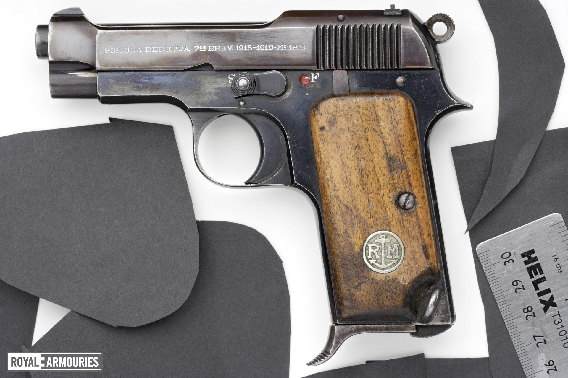 Centrefire self-loading pistol - Beretta Model 1931