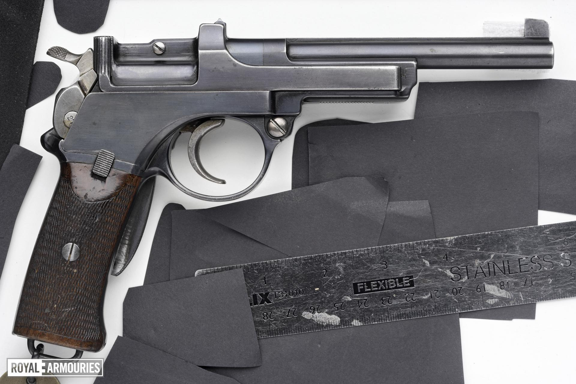 Centrefire self-loading pistol - Mannlicher Model 1900