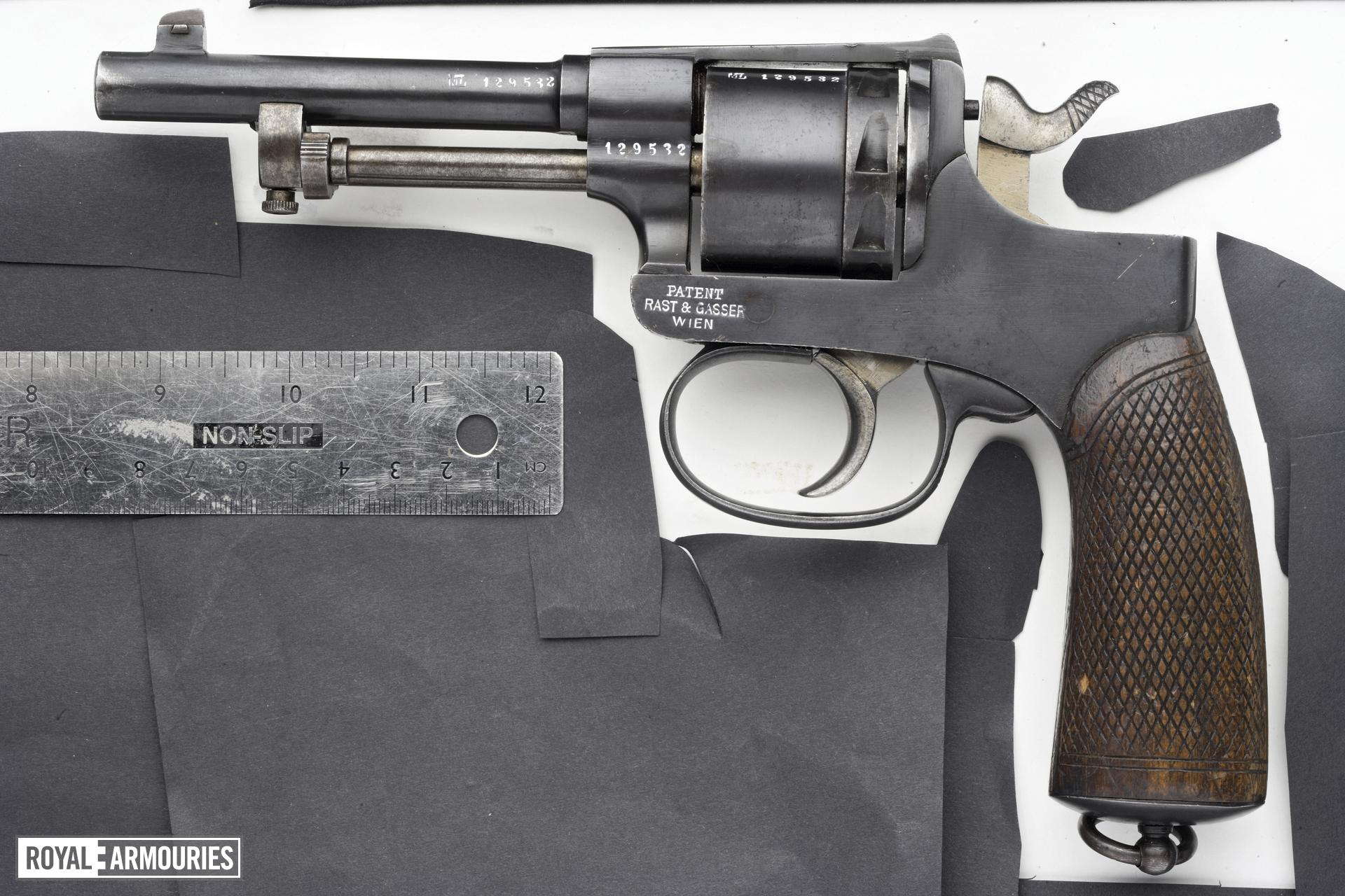 Centrefire six-shot revolver - Rast and Gasser Model 98