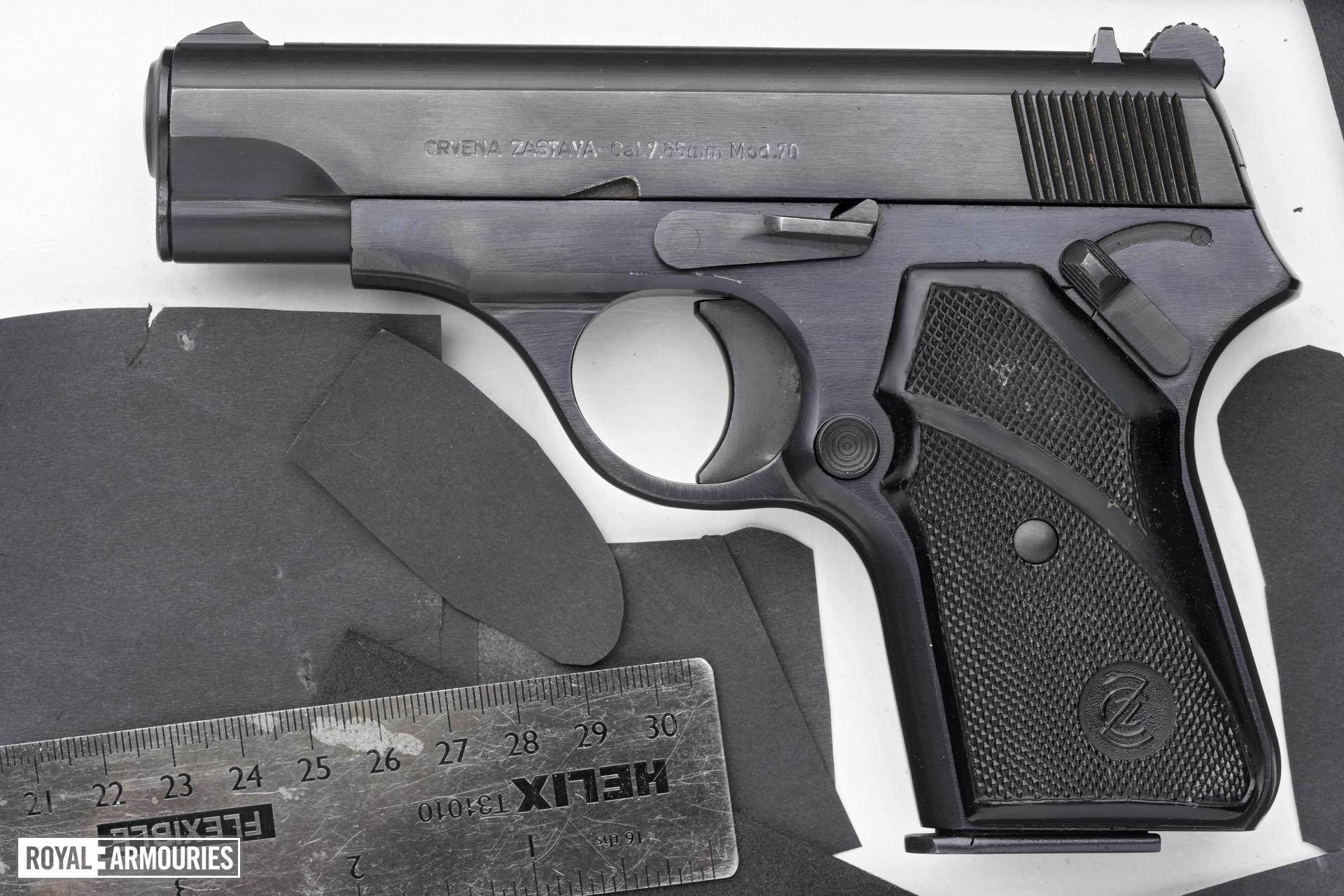 Centrefire self-loading pistol - Crvena Zastava Model 70
