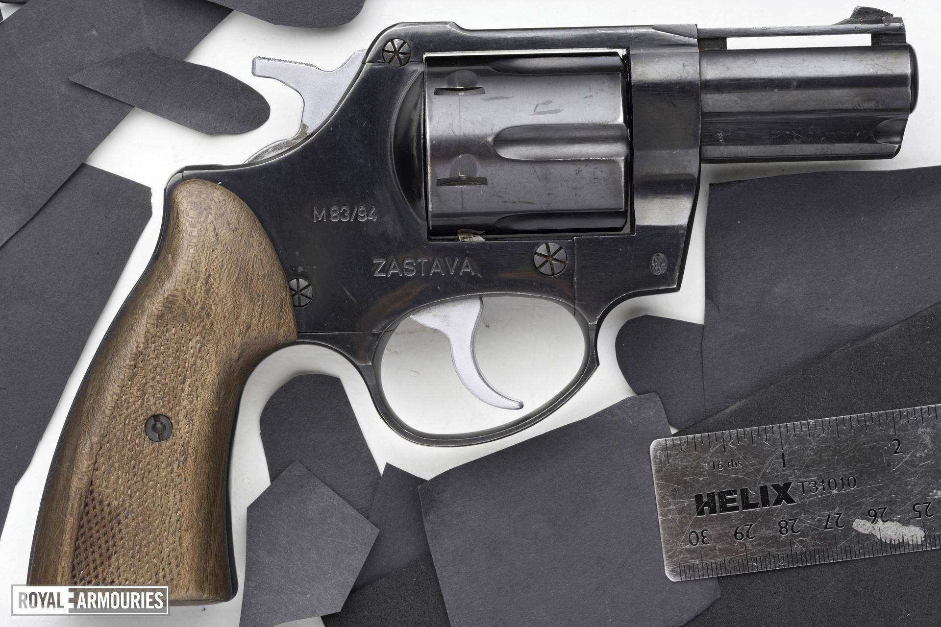 Centrefire six-shot revolver - Zastava M83/92