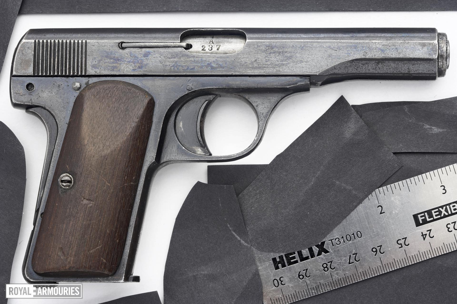 Centrefire self-loading pistol - Ahlberg