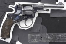 Thumbnail image of Centrefire seven-shot revolver - Nagant Model 1895 S/A Produced at Tula arsenal.