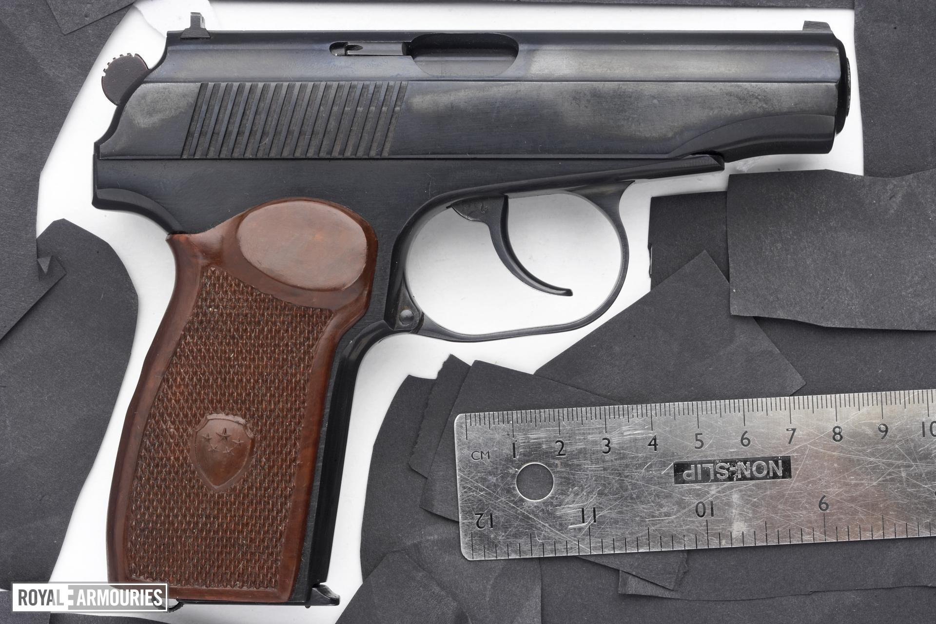 Centrefire self-loading pistol - Makarov Type 59 Centrefire self-loading pistol, Makarov Type 59, China, made 1962