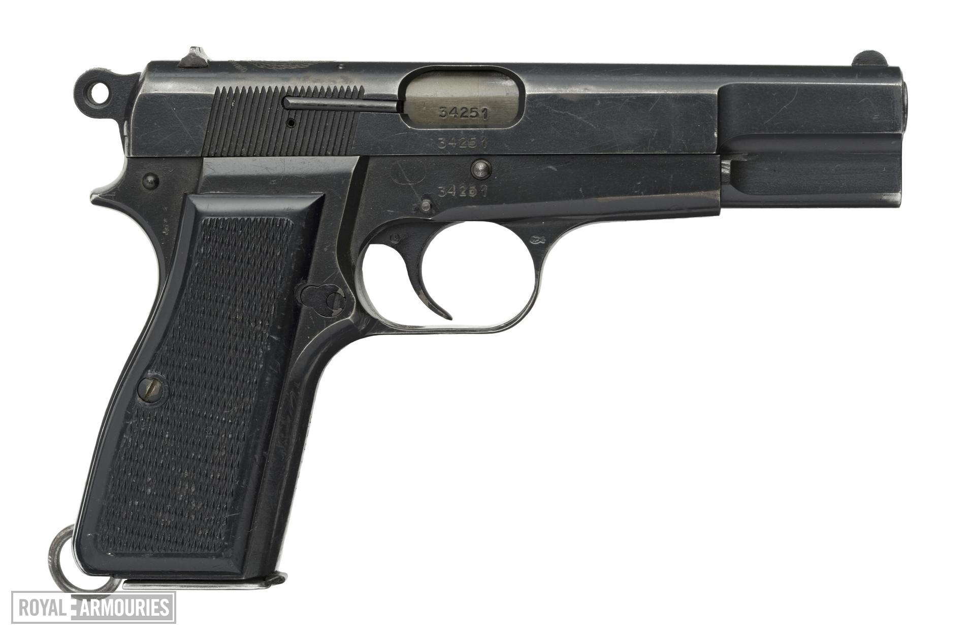 Centrefire self-loading pistol - FN Browning Model 35 HP Made at FMAP or DGFM