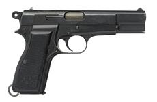 Thumbnail image of Centrefire self-loading pistol - FN Browning Model 35 HP Made at FMAP or DGFM
