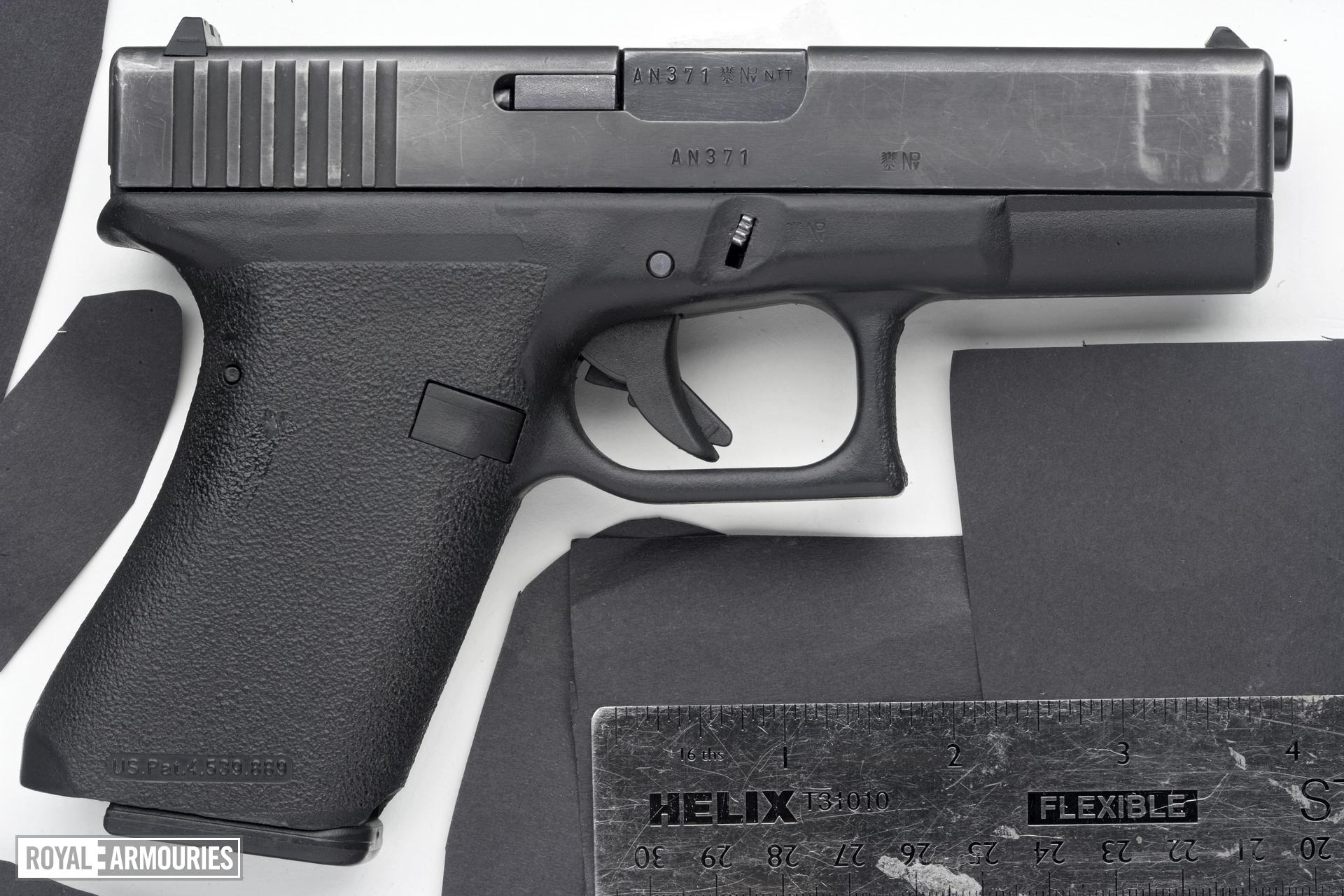 Centrefire self-loading pistol - Glock 19 Generation 1 For UK Special Forces pistol trials.
