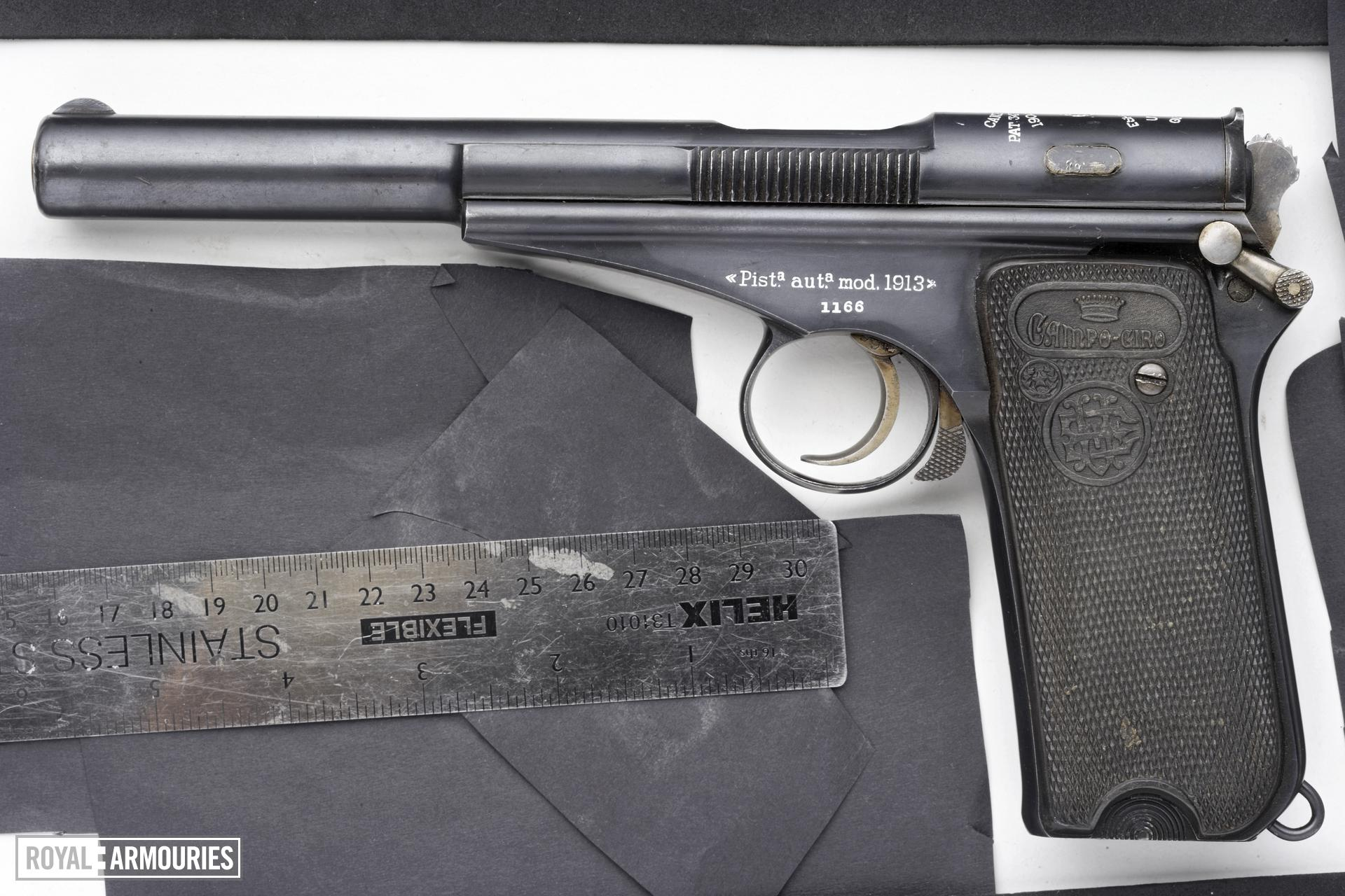 Centrefire self-loading pistol - Campo Giro Model 1913