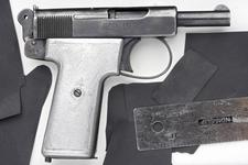 Thumbnail image of Centrefire self-loading pistol - Webley and Scott Model 1908