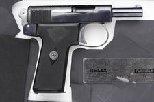 Thumbnail image of Centrefire self-loading pistol - Webley Pocket Model 1910 Made August 1910