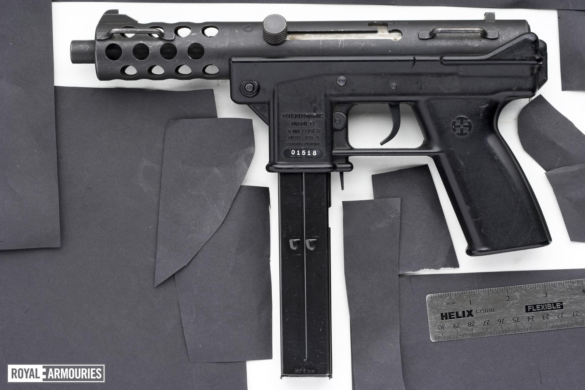 Centrefire self-loading submachine gun - Interdynamic Model KG-9 Semi automatic only variant.